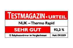 [Translate to Français:] Germany 2009: Very Good – NUK Baby Food Warmer  Thermo Rapid
