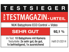[Translate to Français:] Germany 2014: Very Good – NUK Babyphone ECO Control+ Video
