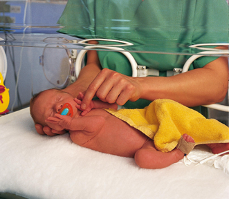 [Translate to Français:] NUK soothers for clinics with neonatal wards