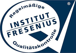[Translate to Français:] Logo of the independent German Fresenius Institute