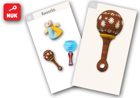 [Translate to Français:] NUK Baby Rattle App