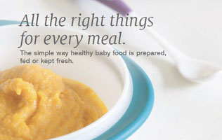 [Translate to Français:] NUK brochure about baby food