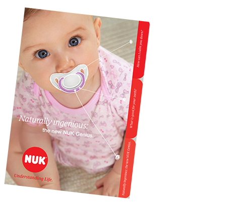 [Translate to Français:] NUK Genius soother Brochure