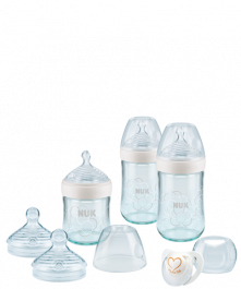 Set de biberons en verre NUK Nature Sense avec tétine Softer
