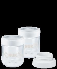 Pot de conservation de lait maternel NUK NATURE SENSE avec adaptateur pour tire-lait