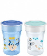 NUK Magic Cup Lot de 2 tasses d'apprentissage