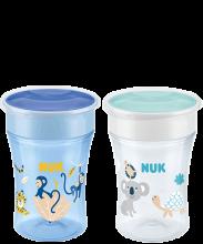 NUK Magic Cup Lot de 2 tasses d'apprentissage