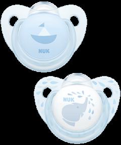 Sucette en silicone NUK Baby Rose & Blue Trendline