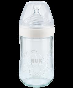 Biberon en verre NUK Nature Sense avec Softer tétine